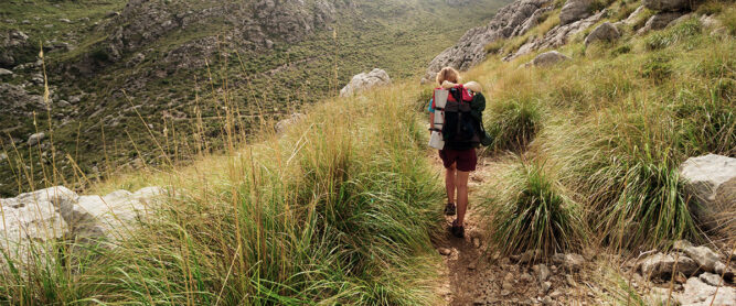 Wanderin in der Tramuntana, Mallorca