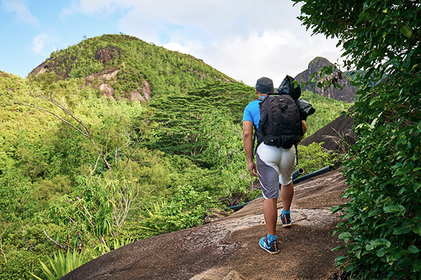 Wanderer auf Mahé, Seychellen