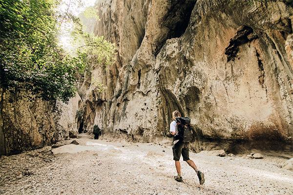 Wanderer im Torrente de Pareis, Mallorca