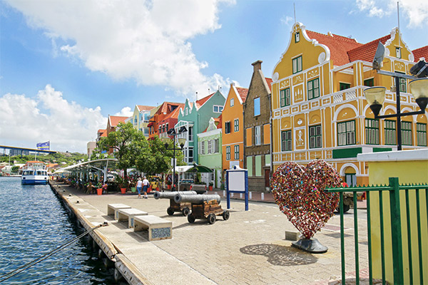 Bunte Häuser Willemstad, Curacao