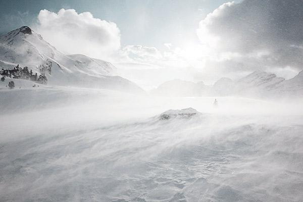 Schneefahnen, Fanesalm Dolomiten