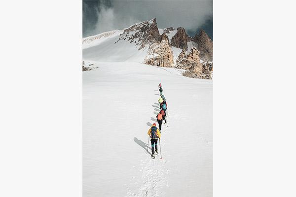 Schneeschuhwandern, Fanesalm Dolomiten