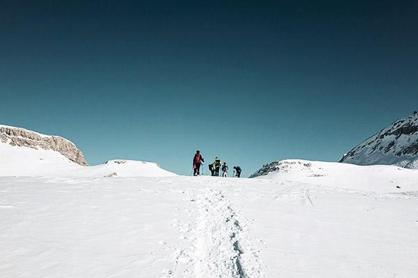Blauer Himmel am Heiligkreuzkofel, Dolomiten