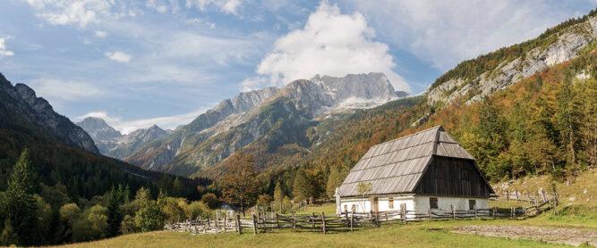 Zadnja Trenta in den Julianischen Alpen