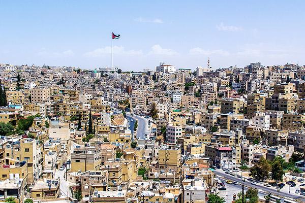 Blick auf Amman, Jordanien